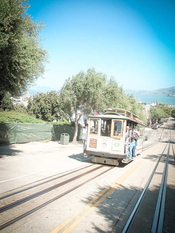 Cable Car San Francisco mit Kindern