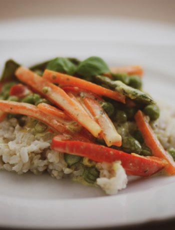 Cremige Gemüsepfanne – Glutenfrei kochen für Kinder und die Familie