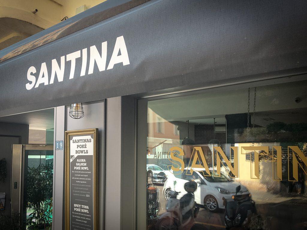 Das Café Santina in Santa Catalina