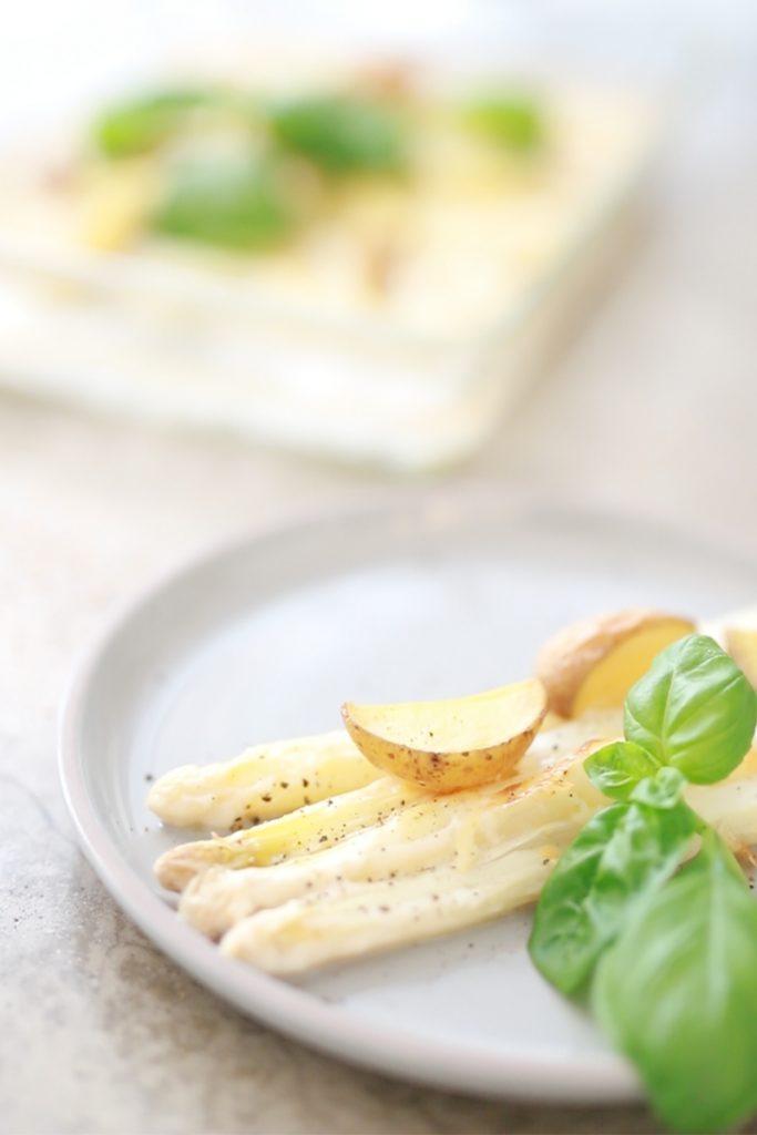 Ofen-Spargel überbacken, glutenfrei, laktosefrei, gesund, immunstark
