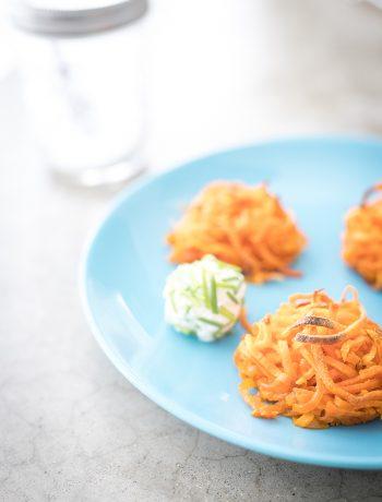 Süßkartoffel-Nester - Ofengericht - Gesund kochen für Kinder und Familie - Sandra Ludes