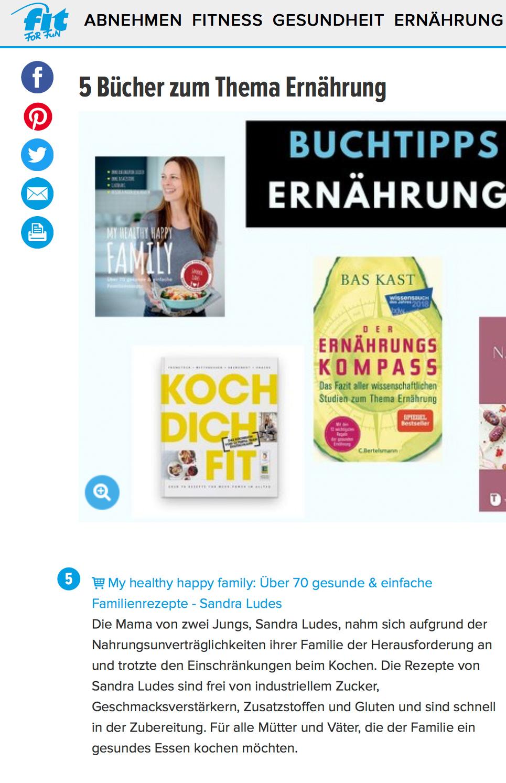 Sandra Ludes Buchtipp Ernährung auf Fitforfun.de